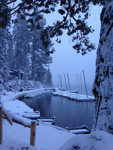 Snowfall at Fallen Leaf Lake