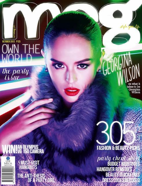 Georgina WIlson Covers Meg Magazine October 2012 Issue