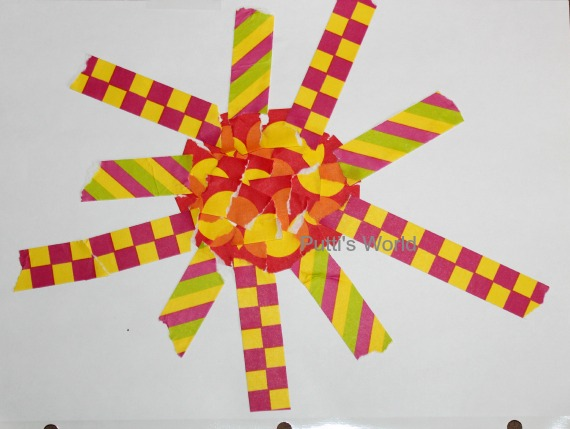 Easy Kids Craft Tape Art Collage