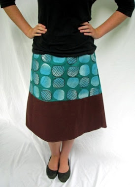 wrap skirt - sci fi