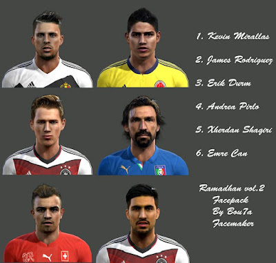 PES 2013 Ramadhan.vol2 Facepack By Bou7a Facemaker