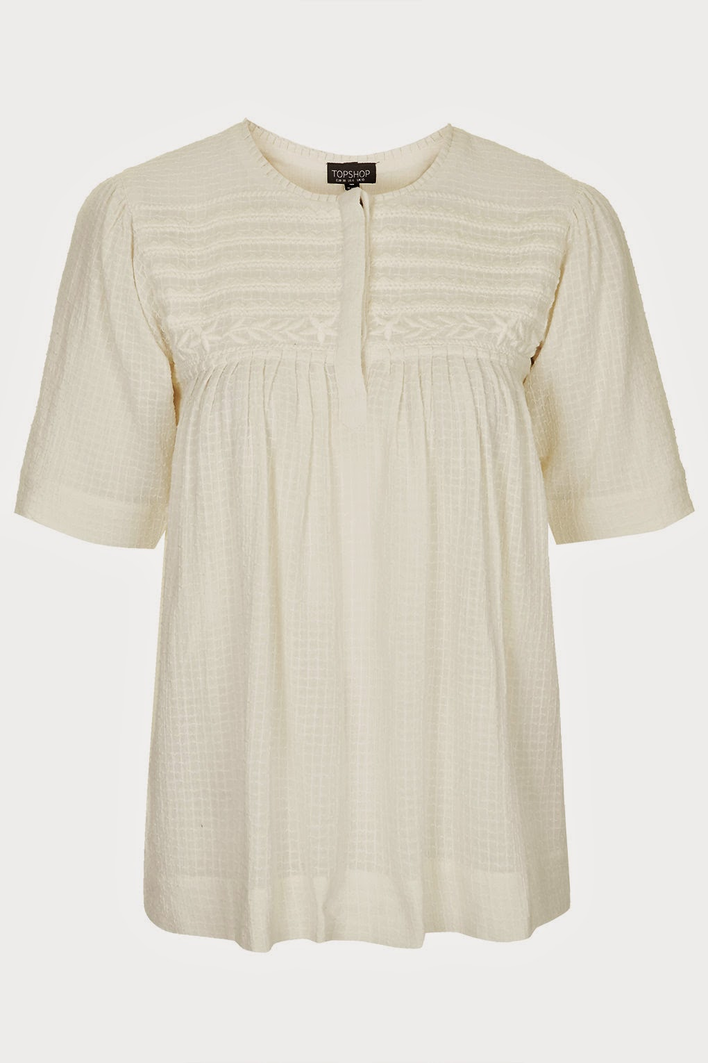 cream cotton top topshop, embroidered cream top,
