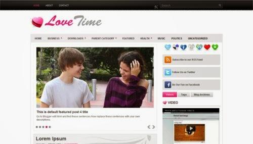 LoveTime - Free Blogger Template