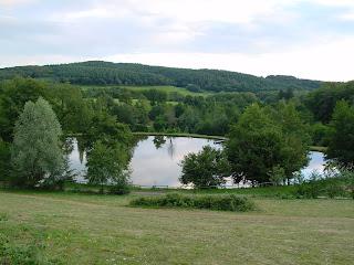 Vue depuis la terrasse du camping Fougeraie, en Bourgogne