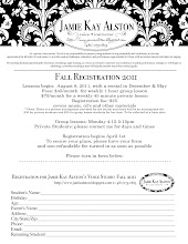 2011 Fall Registration Form