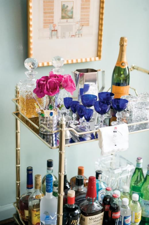 Bourbon And Bleu Inspired By Bar Carts