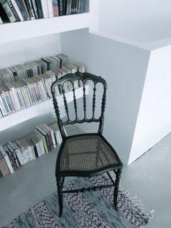 Suite de 4 chaises en bois noirci- Napoléon III