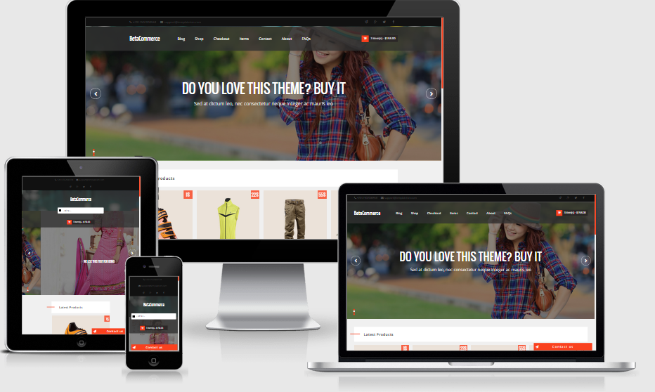 BetaCommerce Shopping Blogger Template is a perfect