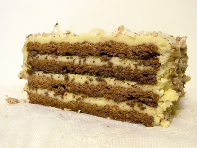 Rise and Shine: Honey, Walnut, Wine and Cheese Sans Rival Cake