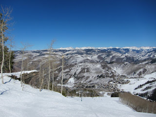 A view of Beaver Creek Village from the top of President Ford's