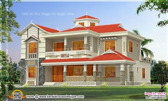 House elevation in 300 square meter home kerala plans 300 ft to m