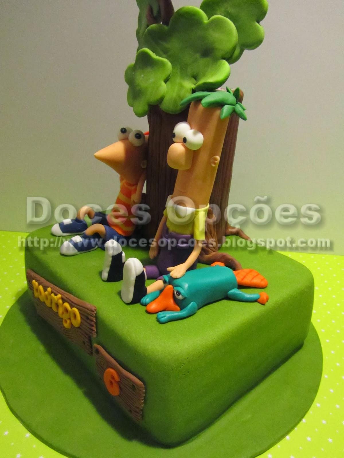 Bolo Phineas e Ferb e perry