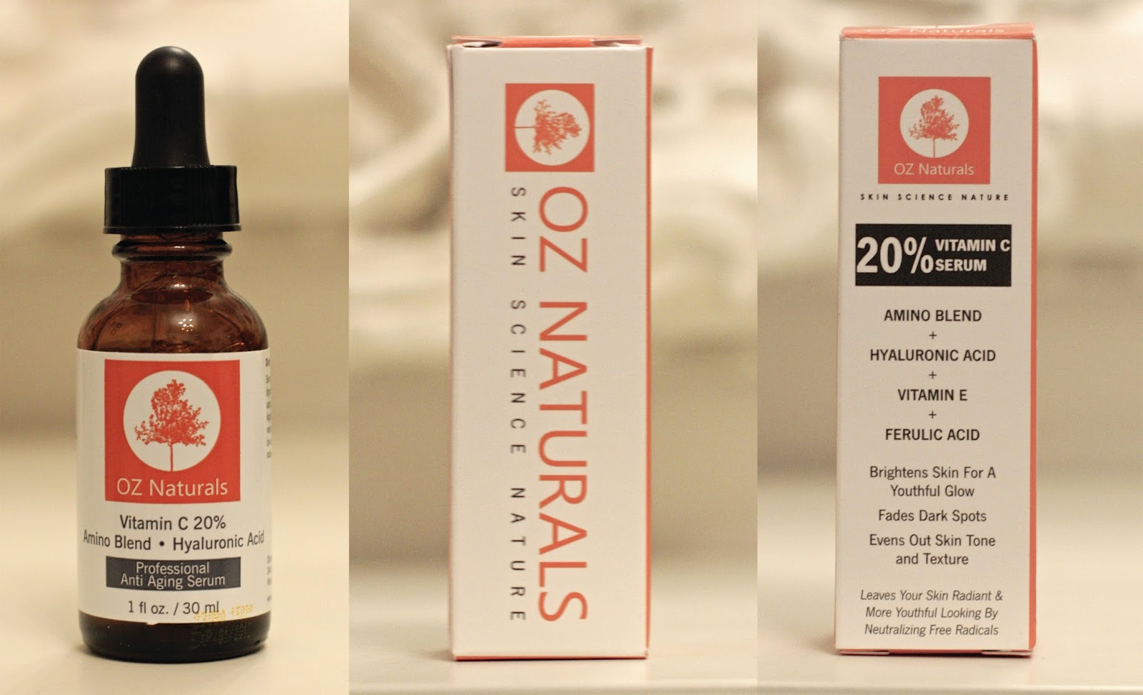 Ascorbic acid serum by OZ Naturals, Vitamin C review