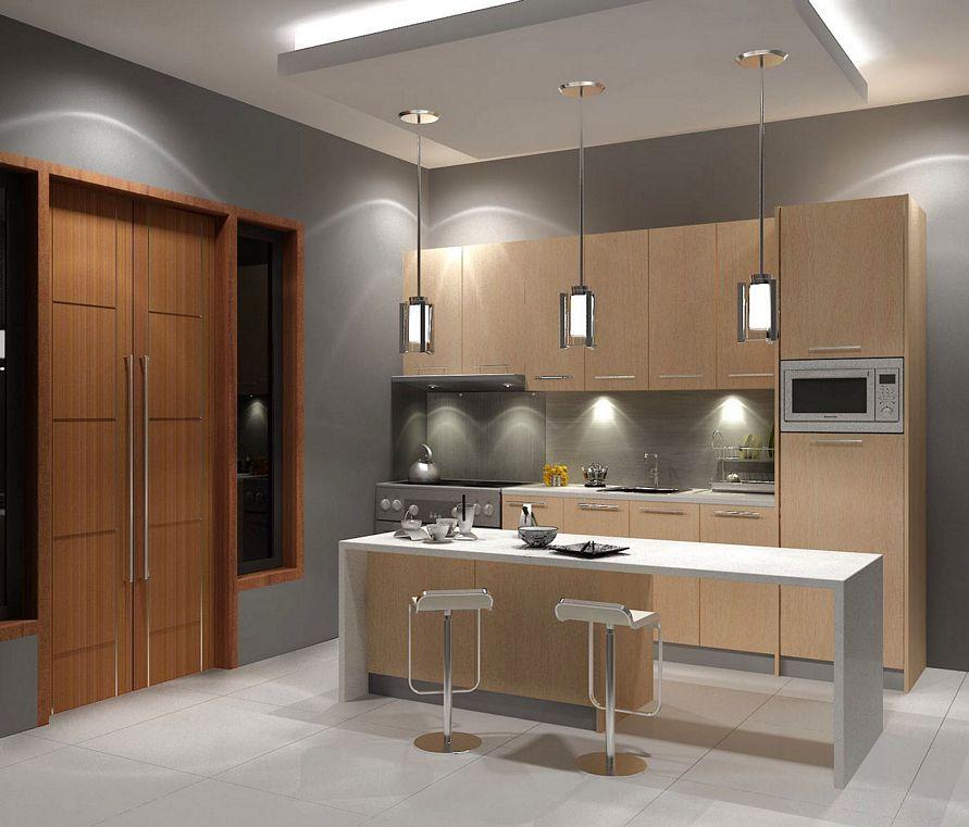 contoh interior desain dapur minimalis