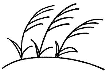 すすきのイラスト(十五夜) 白黒線画