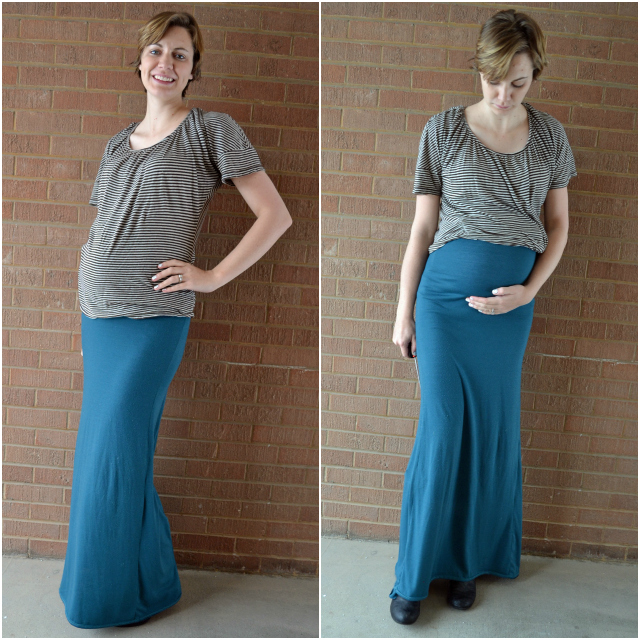 Ruched Maternity Maxi Skirt - Heather Handmade