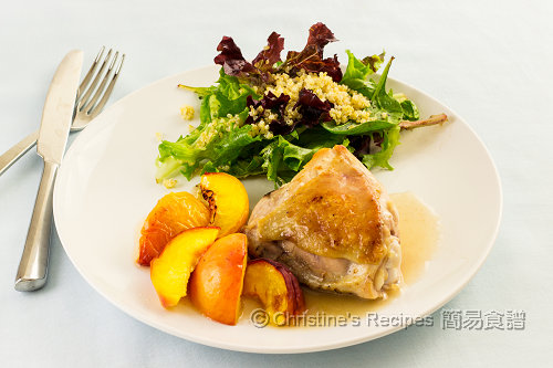 烤焗蜜桃雞腿 Baked Chicken Thighs with Peaches02