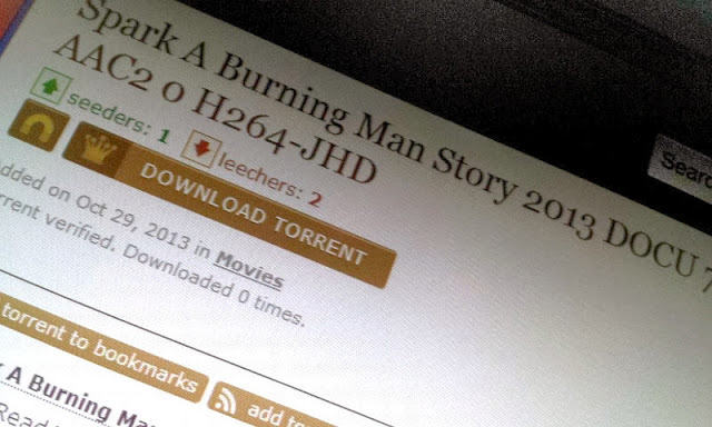 spark a burning man story on a torrent site