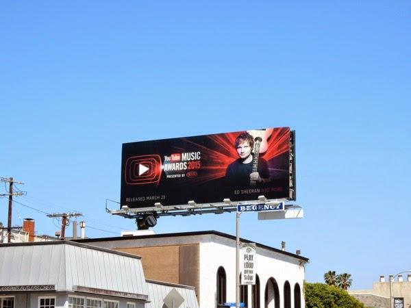 Ed Sheeran YouTube Music Awards billboard