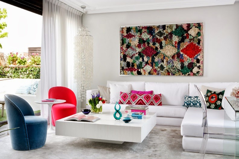 una casa very chic estudio de interiores Living Pink