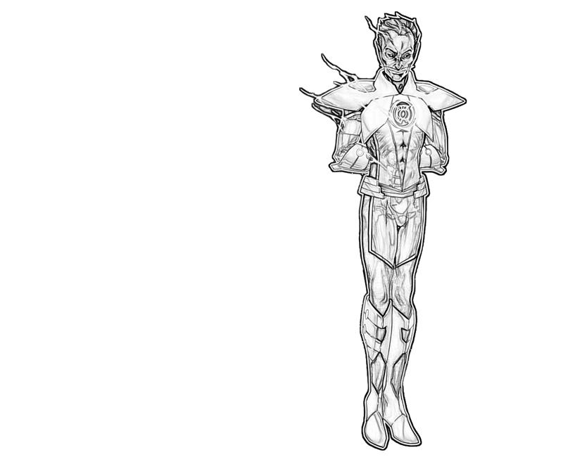 thaal sinestro character coloring pages