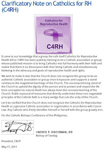 "A reminder about C4RH or ""Catholics for RH"""