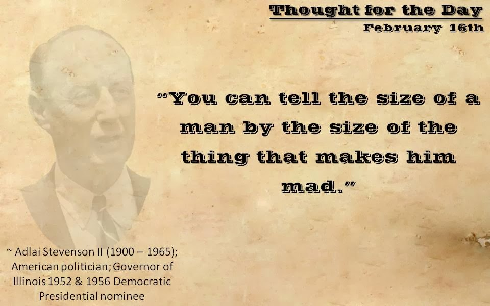 Thought For The Day Quotes Enchanting Quote From Adlai Stevenson Ii  Thought For The Day 16Th February