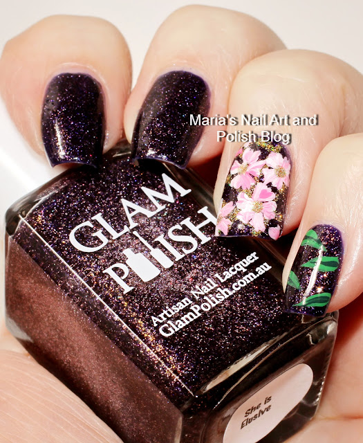 Marias Nail Art And Polish Blog Subtle Floral Nail Art On: Marias Nail Art And Polish Blog: Floral Nail Art On She Is