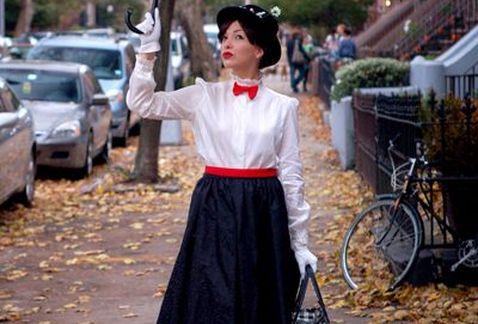 Disfraz improvisado Mary Poppins