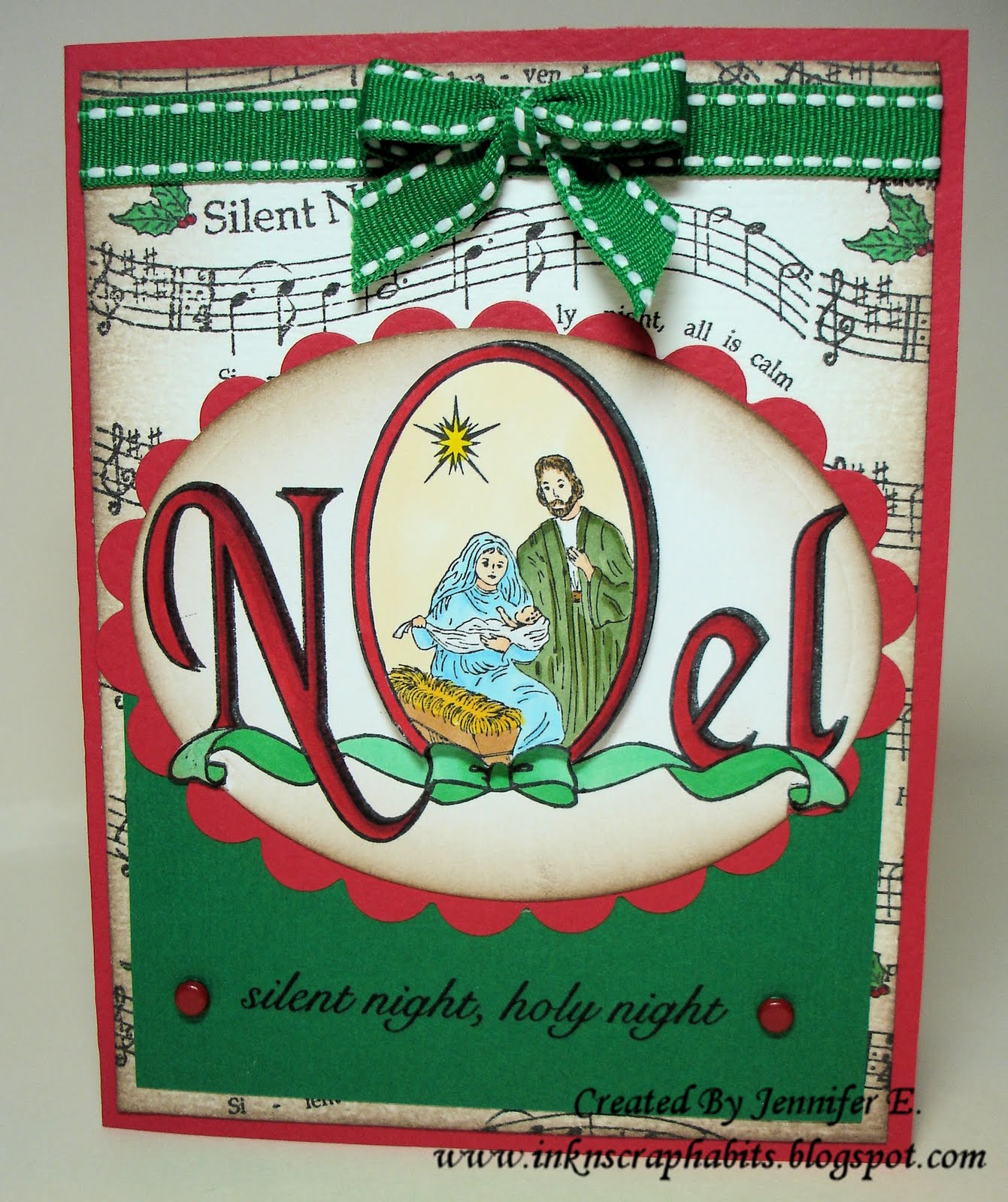 Nativity Noel Rubber Stamp by DRS Designs