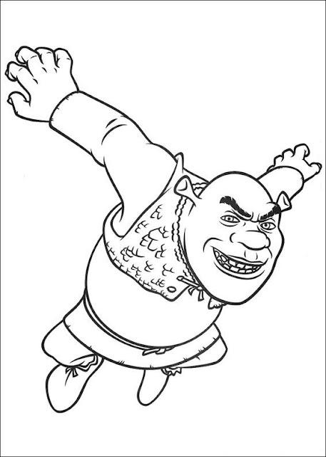 Unique Comics Animation: top shrek coloring pages 02