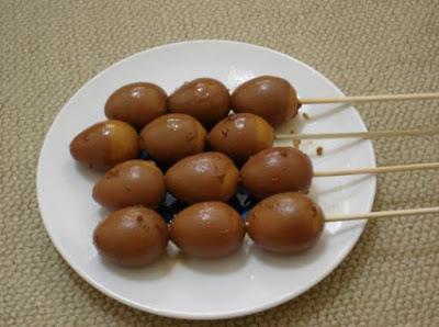 Resep membuat sate telur puyuh bumbu kecap