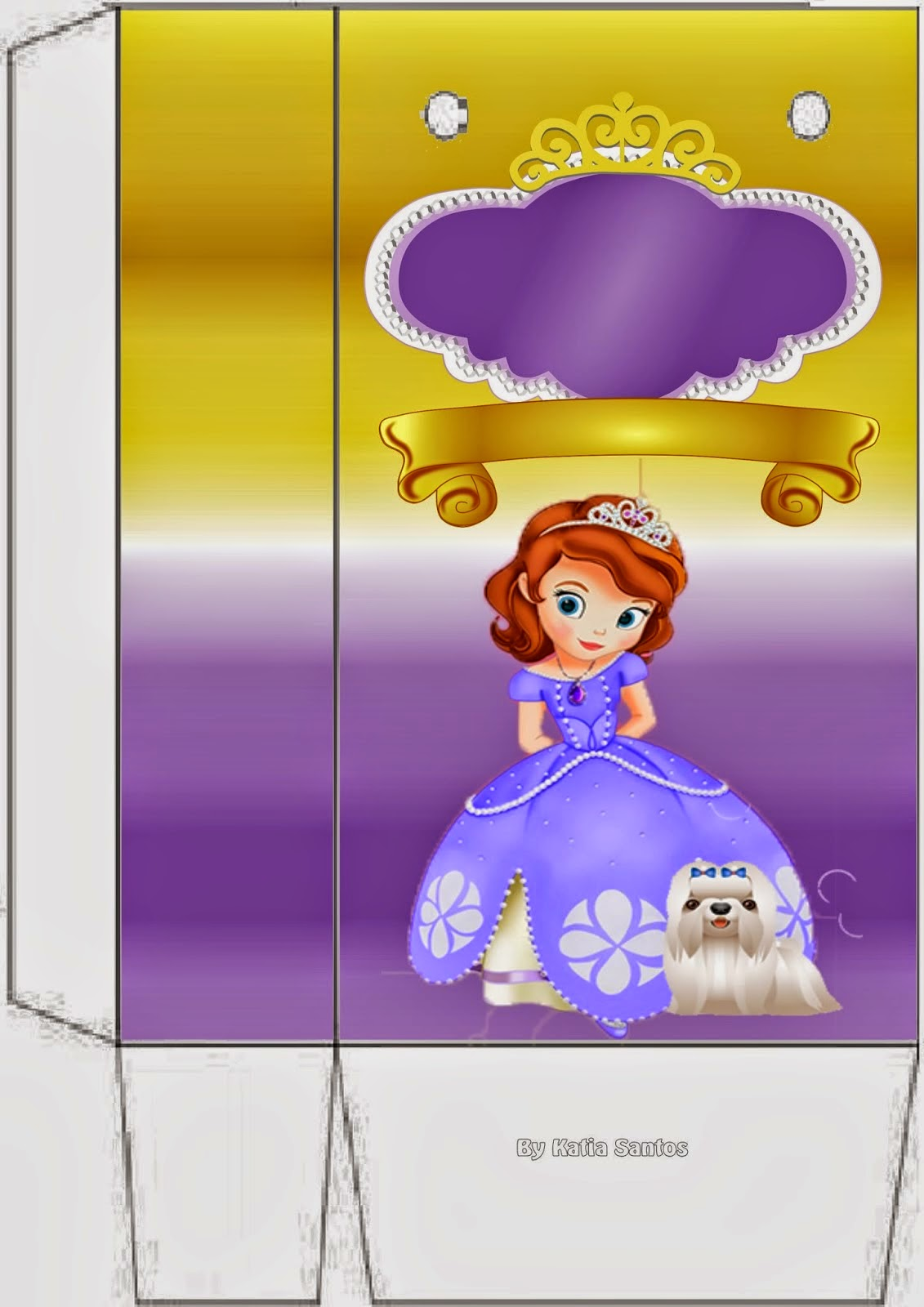Sofia the First for free printable box.