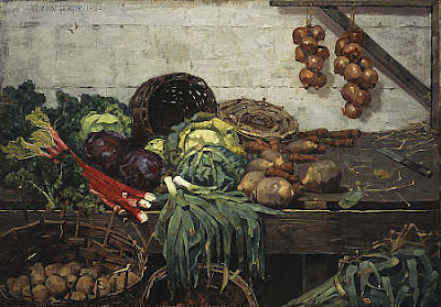The Vegetable Stall William York MacGregor Glasgow Boys
