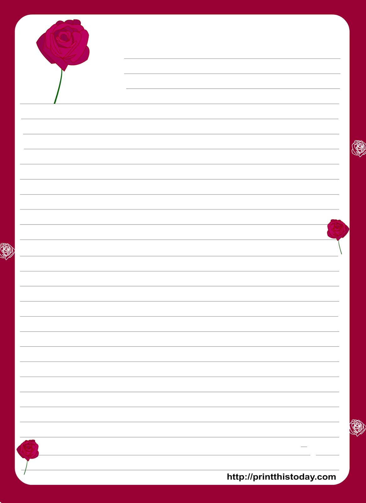 Rosa dibujada mini kit para imprimir gratis ideas y - Pagina de decoracion ...