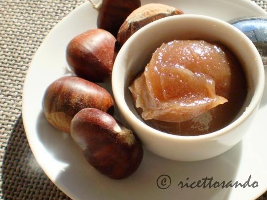 Confettura di marroni  marmellata ricetta dolce di castagne