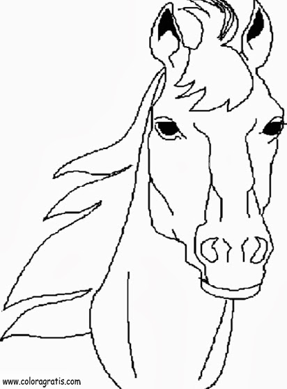Disegni di cavalli da colorare for Immagini di cavalli da colorare