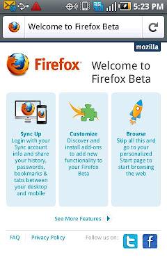 Download Firefox 6 Beta for Android
