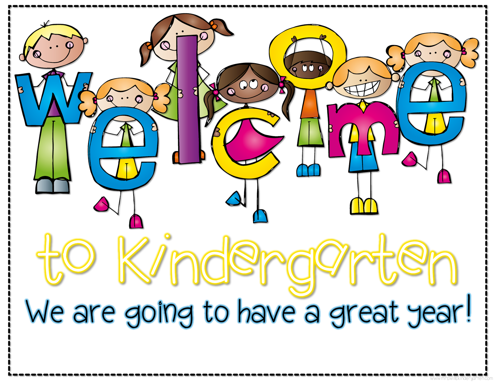 Image result for welcome to kindergarten sign