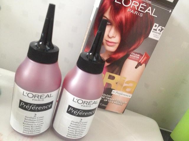 loreal feria hair dye
