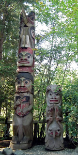 The Raven Story Pole at Capilano Suspension Bridge