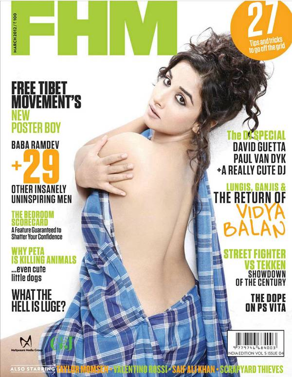 Vidya Balan CoverPage in FHM India March 2012