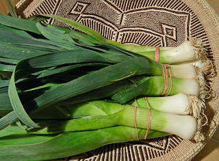 Basket of 3 Bunches of Leeks