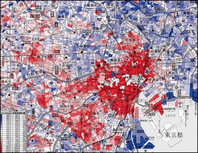 富裕層 地図 ヒートマップ 沿線 年収 平均所得 収入 東京