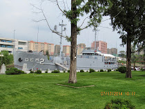 Captured spy ship USS Pueblo, moored since 1968 in Pyongyang, North Korea