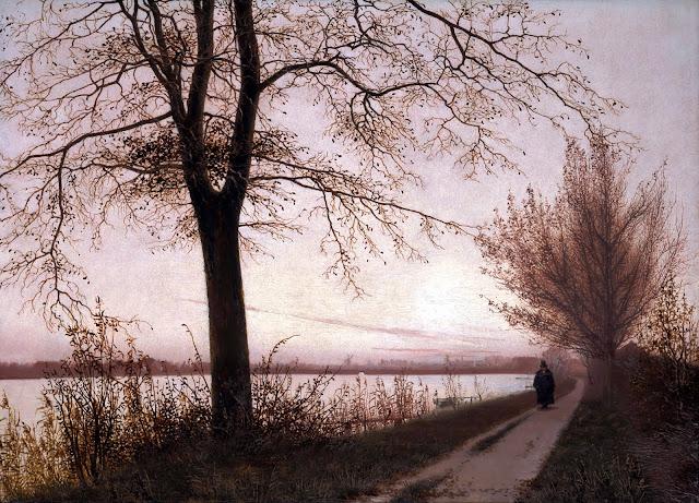 Efterårsmorgen ved Sortedamssøen af Christen Købke, 1838