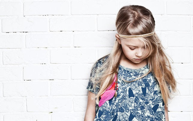 Moth print by Nosweet for spring 2014 kidswear collection