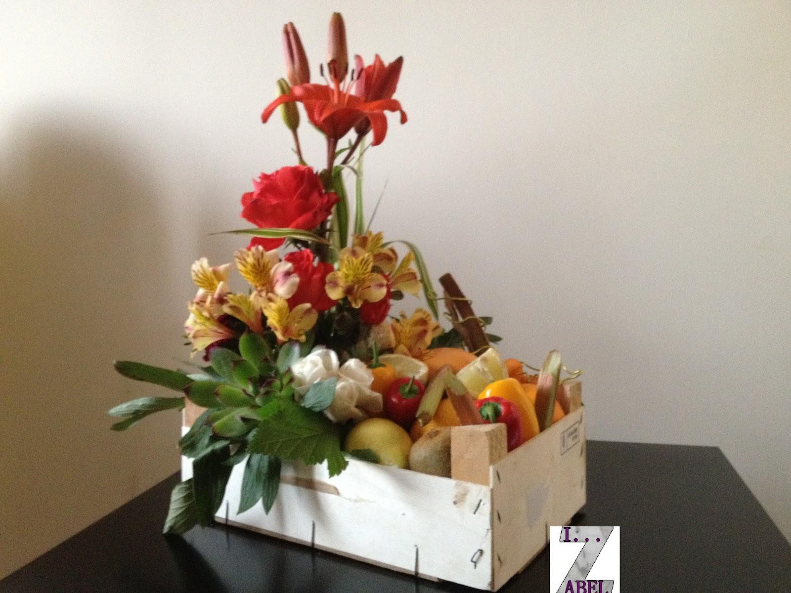 A la t te de l 39 art - Composition florale avec fruits legumes ...