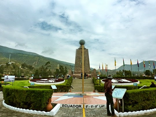 Equatorial line in Quito in Ecuador the Middle of the World