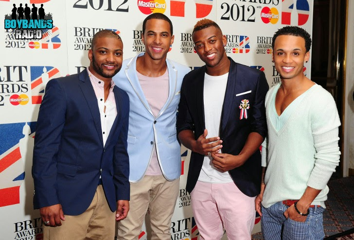 British boyband JLS at the Brit Awards 2012. Listen to all their hits on Boybands Radio.